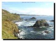 Rocky Oregon Beach - near Newport - Pacific Ocean - Oregon Vacation Beaches Screensavers