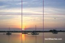 Basic Photography Rule of Thirds grid on Vacation Sunrise