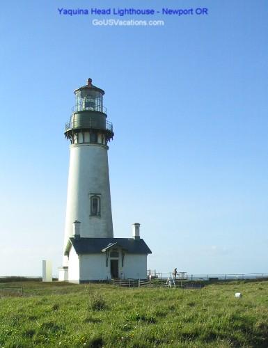 Yaquina Head Lighthouse - north of Newport Oregon