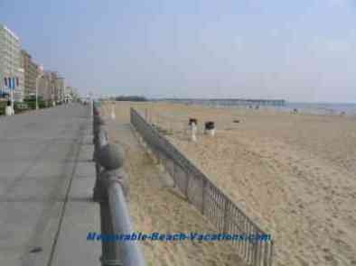 Virginia Beach picture with Boardwalk - looking north toward Pier - Viorginia Beaches Vacations