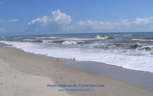 Florida Cocoa Beach - Atlantic Ocean Waves