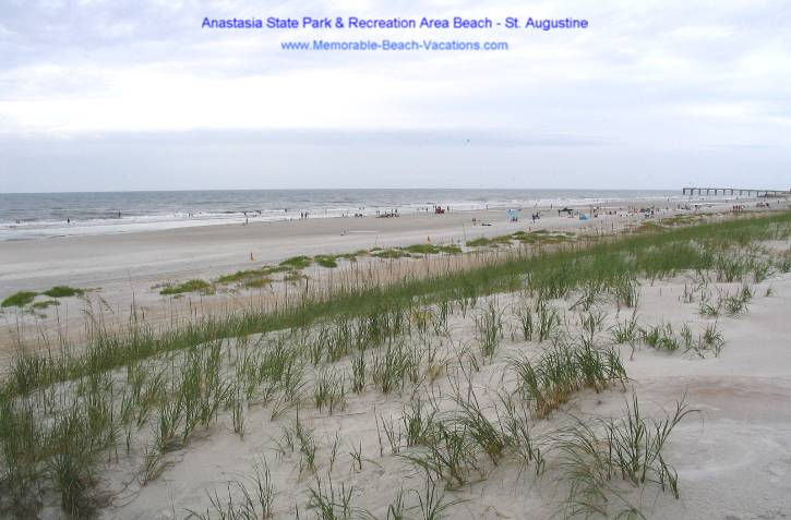St Augustine Florida - Anastasia State Park & Recreation Area beaches