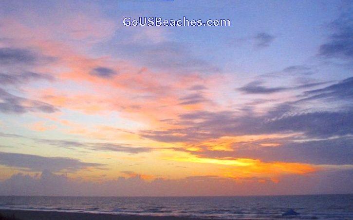 Cocoa Beach Florida - Beach Sunrise over Atlantic Ocean