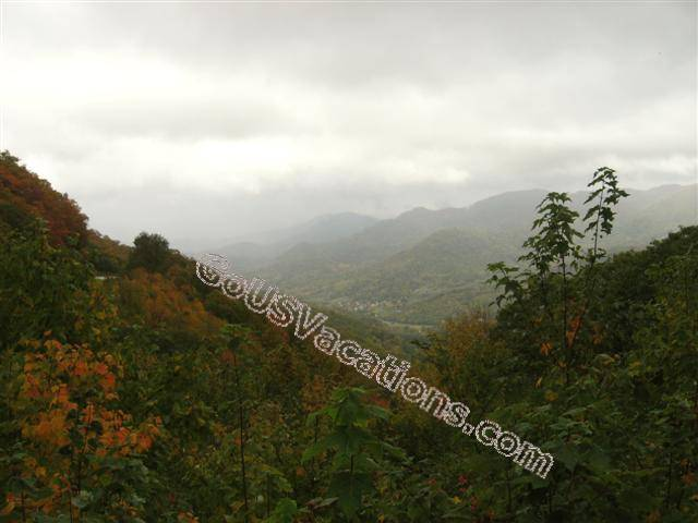 Foggy Valley and Mountain Overlook - Fall Blue Ridge Parkway vacation