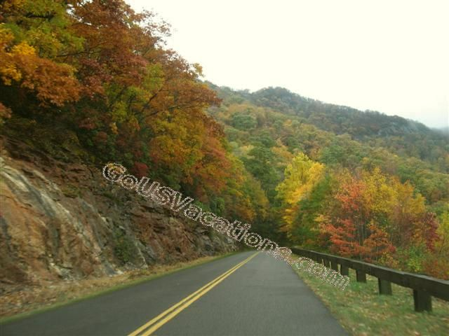 Blue Ridge Parkway Fall Colors - North Carolina - Colorful Fall Vacation Road Trip