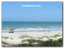 Sunny beach and ocean waves - from Condo Balcony - Cocoa Beach Florida