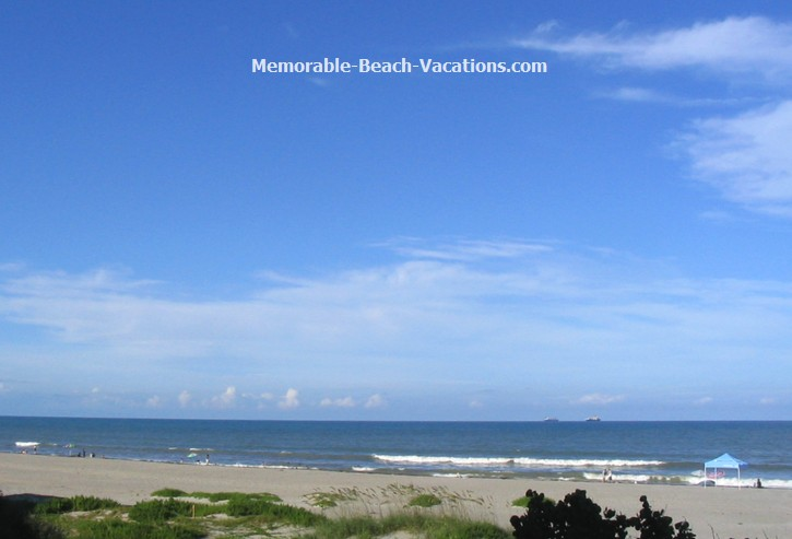 Florida - Cocoa Beach - Atlantic Ocean from Ocean Landings Resort Condo Balcony