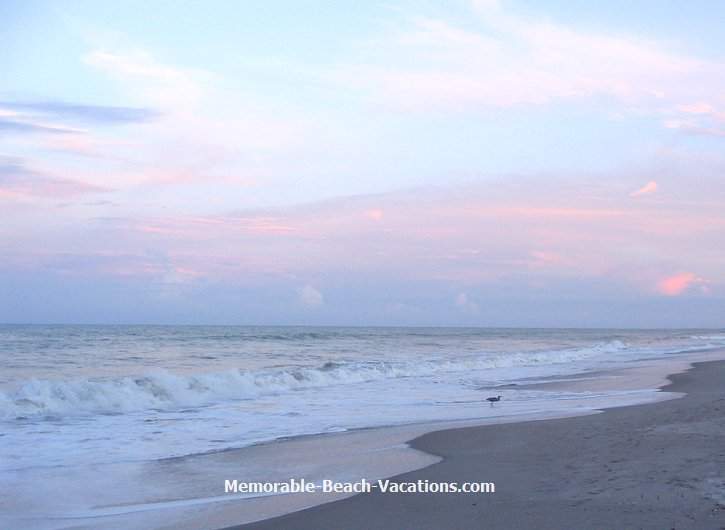 Cocoa Beach Florida - beach sunset evening Clouds over Atlantic Ocean
