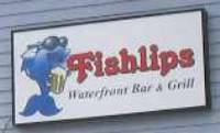 Fishlips Restaurant Sign - Cape Canaveral Port area