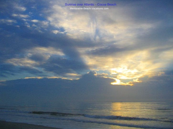Cocoa Beach Florida - Beach Sunrise over Atlantic Ocean