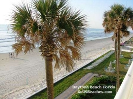 Daytona Beach Florida Ocean Beach from Condo Bancony