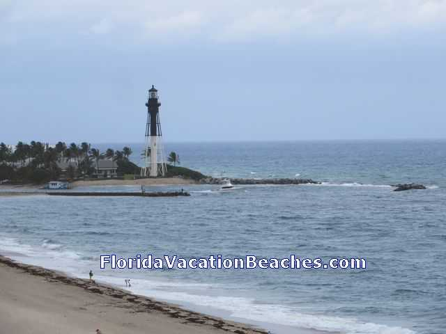 Hillsboro Beach Lighthouse - taken from Timeshare Resort on Pompano Beach, Florida
