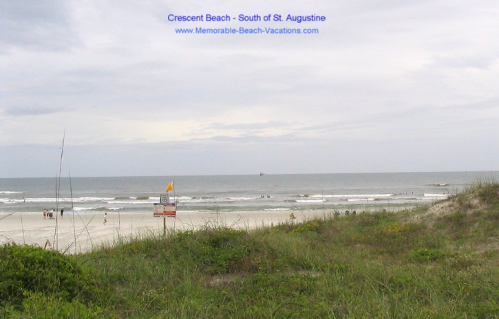 St Augustine Florida beaches - Crescent Beach - Atlantic Ocean from near South Beach Grille Restaurant