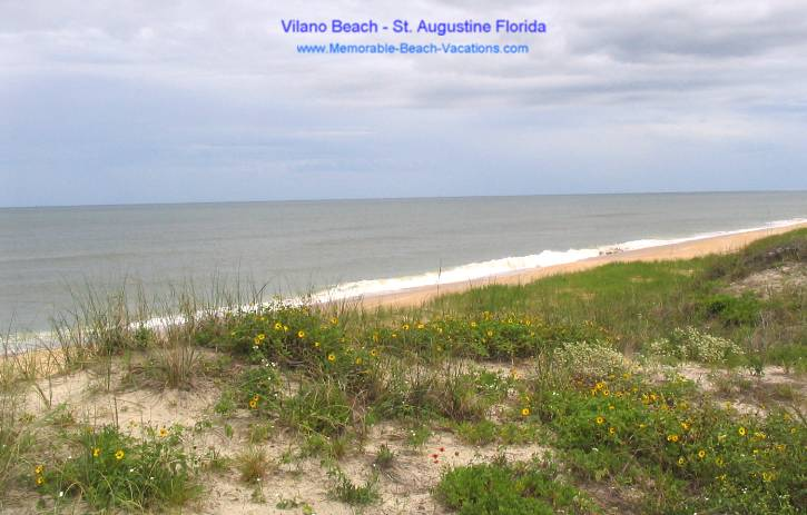 Vilano Beach - Atlantic Ocean - St Augustine FL Beaches