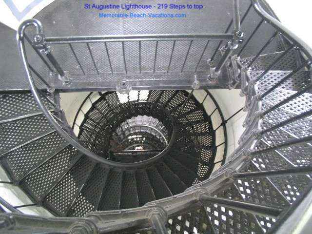 St Augustine Florida Lighthouse Metal Spiral Stairs