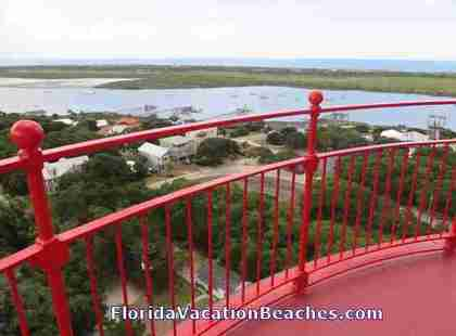 St. Augustine Lighthouse View from the top ope viewing deck - St Augustine, Florida