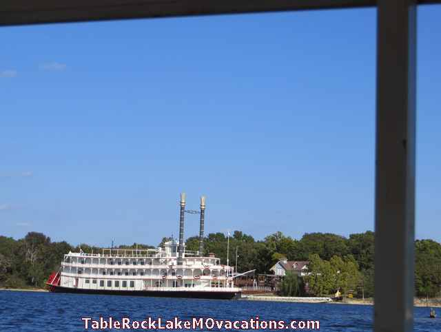 from Branson, MO Ride the Ducks ride on Table Rock Lake -- Bell of Branson Showboat at Dock