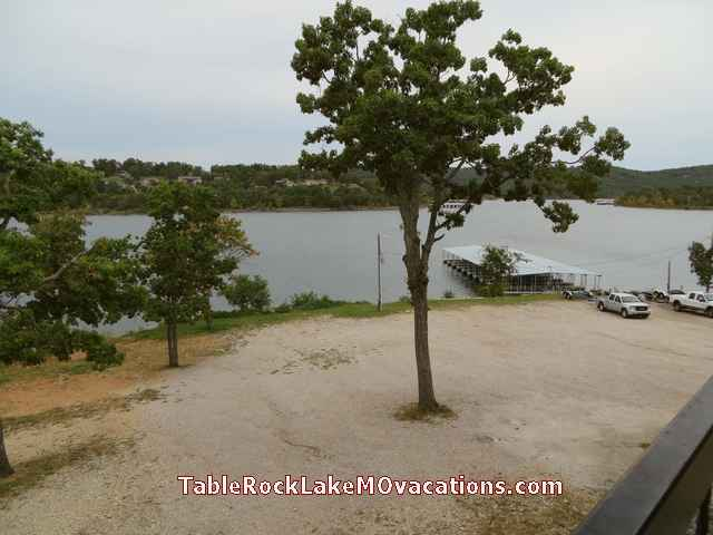 Kimberling Inn boat dock on Table Rock Lake -- picture taken from Lakefront Timeshare Condo Balcony