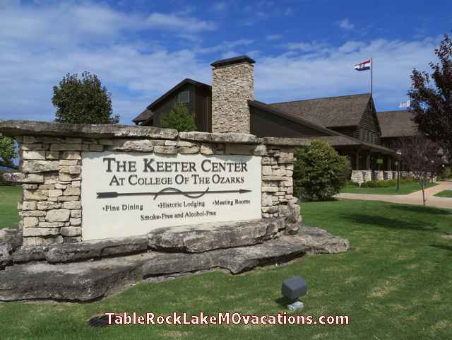 College of Ozarks sign - Keeter Center - South of Branson, Missouri