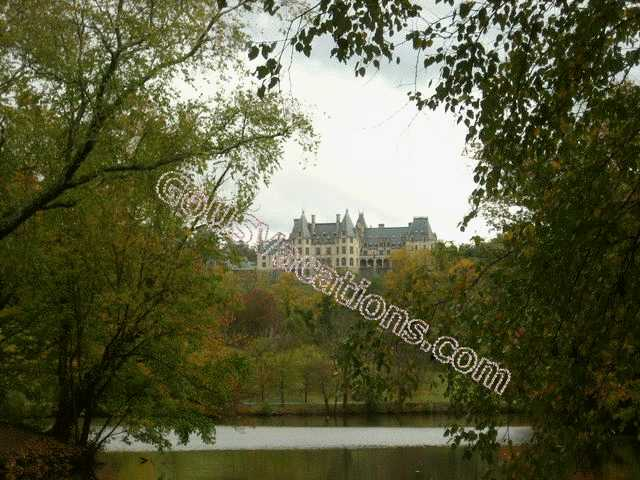 Biltmore Mansion taken from reflecting pond - Asheville, North Carolina