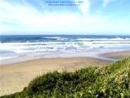 Oregon Vacation Beaches sandy wide beach area near Newport