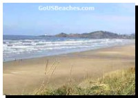 Oregon Beach Vacations - Ocean waves with distant  Lighthouse