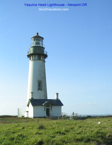 Yaquina Head Lighthouse - north of Newport Oregon