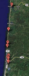To interactive Google Map of the Central Oregon Coast area