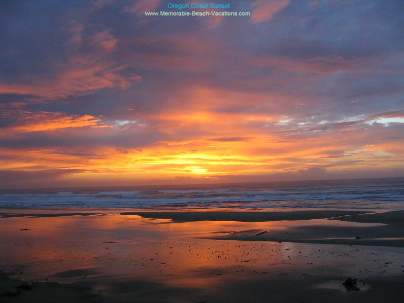 Oregon Coast Sunset - a great Oregon Beach Sunset Picture