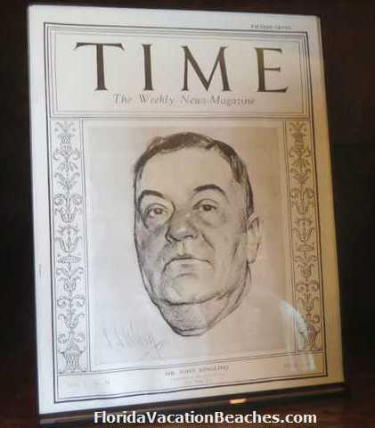 John Ringling on cover of Time Magazine - at time he was the richest man in America