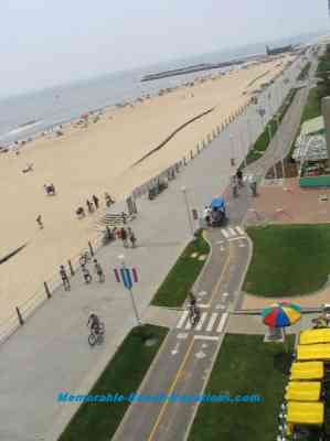 Virginia Beach picture + Boardwalk & Bicycle path - Virginia vacation beach picture
