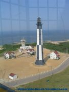View from top of Old Cape Henry Lighthouse - Virginia vacation beaches attraction - Virginia Beach Picture page