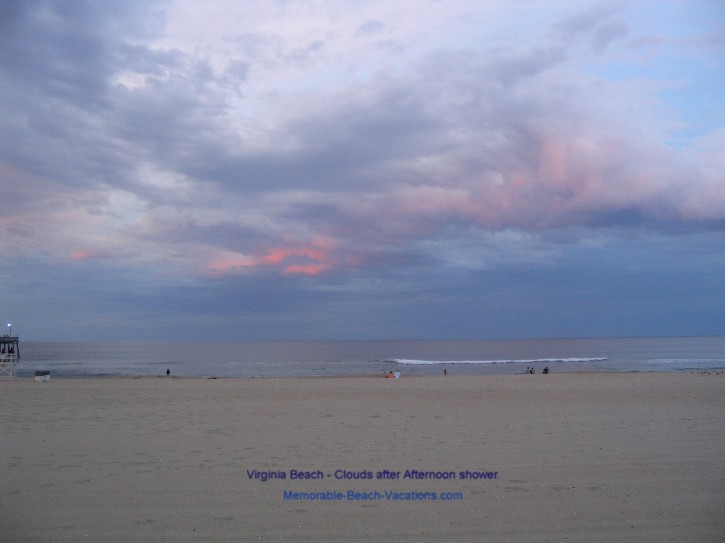 Clouds after Afternoon Shower - Virginia Beach - on Virginia Vacation Beach Screensaver pg