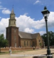 Colonial Williamsburg - Bruton Parish Church - Near Virginia Beach Attraction