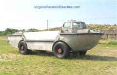 Historic Amphibious Naval Vehicle on Naval Base - Virginia Beach