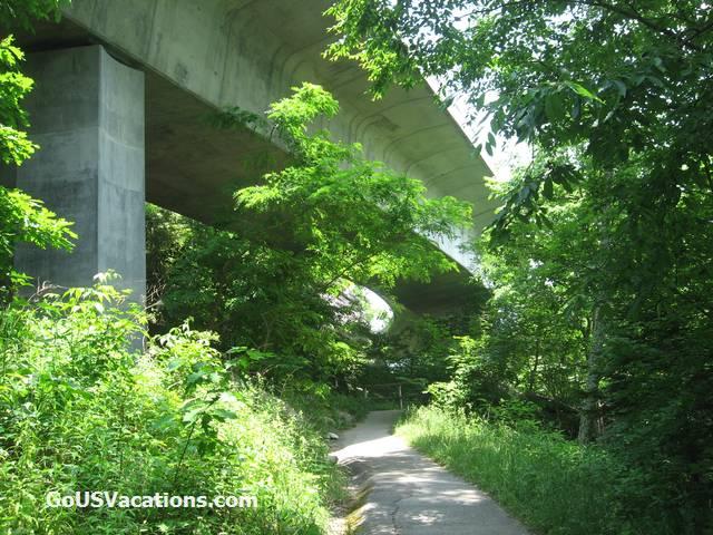 Linn Cove Viaduct Trail view - Blue Ridge Parkway vacation