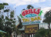 Grills Restaurant Sign - Cocoa Beach FL Restaurant Top Pick