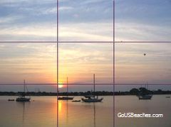 Rule of 3rds grid on St Augustine Harbor Sunrise photo