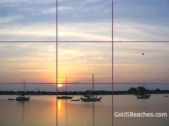 Rule of 3rds grid example photo- St Augustine Harbor sunrise