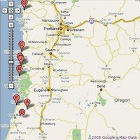 Map of Oregon Coast & Attractions