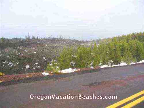On day trip to Sisters Oregon Via McKenzie Pass and Oregon Volcano rock area