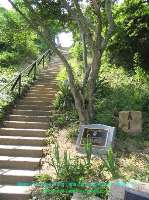 Steps Up to base of Original Cape Henry Lighthouse - Virginia Vacation Beach Screensavers II Pg