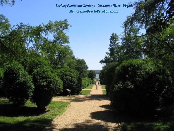 Berkley Plantation Gardens on James River - Virginia Vacation Beach Screensavers Pg