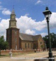 Colonial Williamsburg - Bruton Parish Church - Near Virginia Beach Attraction